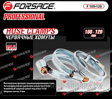 Forsage Хомут червячный металлический 60-80мм, 25шт(антикорозийное покрытие Zn 9mkm, гальвинизированная сталь,