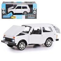 Машина металлическая 'ВАЗ 21214', 122, инерция, открываются двери, капот, багажник, цвет белый