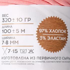 Трикотажная лента 'Лентино' лицевая 100м/320±15гр, 7-8 мм (пудровый) - фото 4