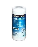 FAVORIT OFFICE Plastik Clean F230007 влажные салфетки для пластика  туба 100 салфеток