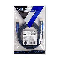 Интерфейсный кабель HDMI-HDMI SVC HR0150BL-P, 30В, Синий, Пол. пакет, 1.5 м