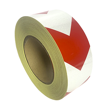 Лента светоотражающая SH515 красно-белая 50mmX45,7m