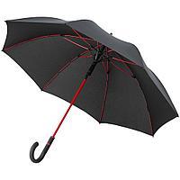 Зонт-трость с цветными спицами Color Style ver.2, красный с черной ручкой, фото 1