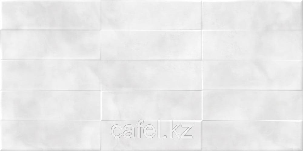 Кафель   Плитка настенная  30х60 - Карли   Carly светло-серый рельеф