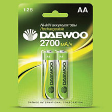 Аккумуляторные батарейки DAEWOO HR6-2B-2700