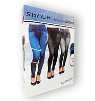 "Slim` N Lift - Джеггинсы-капри Caresse Jeans утеплённые (синие) ""M/S"""
