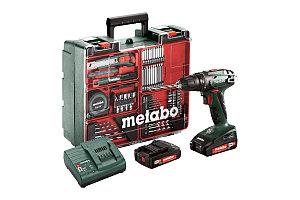 Дрель шуруповерт Metabo BS 18 602207880 с набором оснастки