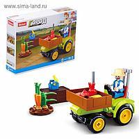 Конструктор Город «Фермерский трактор», 80 деталей