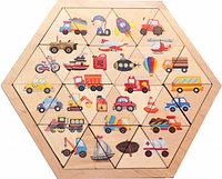 """Пазл деревянный """"Занимательные треугольники. Транспорт"""" Десятое королевство, цвет мульти"""