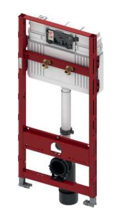 Застенный модуль TECEprofil с универсальным смывным бачком для подвесного унитаза Geberit Publica
