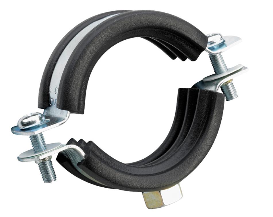Хомут металлический с резиновой прокладкой 60-64 мм - фото 3