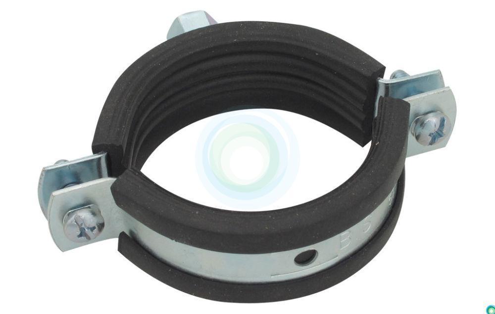Хомут металлический с резиновой прокладкой 75-80 мм - фото 2