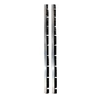 Щетка полосовая полипропилен черный, 600 мм, 2 шт для насадки подвесной НП-60