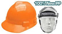 Каска защитная из ударопрочной пластмассы,оранжевая TOTAL арт.TSP605
