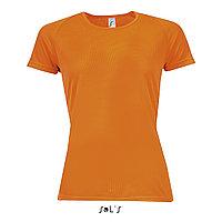 Футболка Dry Fit оранжевая S | Sols Sporty women