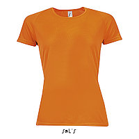 Футболка Dry Fit оранжевая M | Sols Sporty women