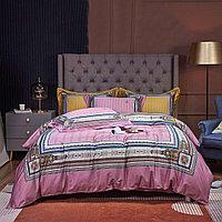 Комплект постельного белья двуспальный king-size сатин LUX с полосками