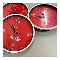 Часы с логотипом компании, диаметр 35 см