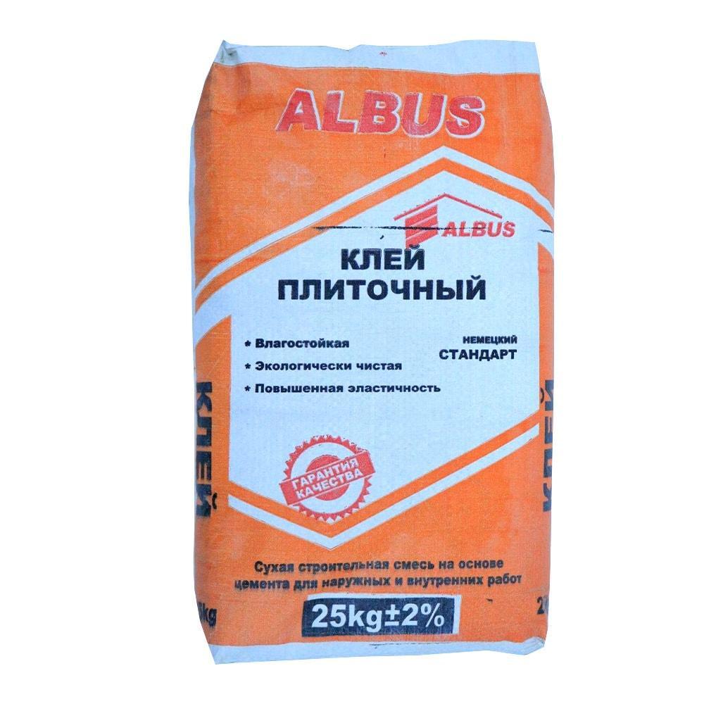 КЛЕЙ ПЛИТОЧНЫЙ ALBUS 25 кг.