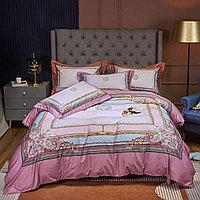 Комплект постельного белья двуспальный из сатина с узорами