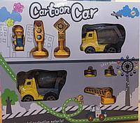 """Игровой набор машинок """"Cartoon Car"""" с дорожными знаками"""