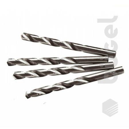 Сверло по металлу, 6,0 мм, полированное, HSS,10 шт.,цилиндрический хвостовик//Matrix
