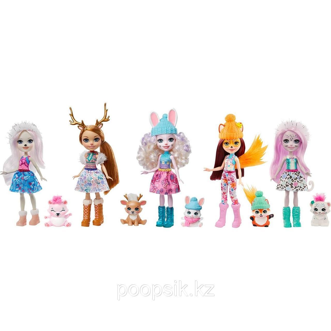 Enchantimals 5 кукол+питомцы Снежный день с друзьями GXB20