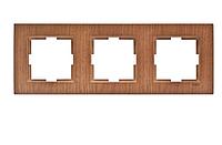 Рамка для розеток и выключателей NOVELLA CEVIZ UCLU CERCEVE