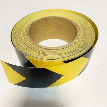 Лента светоотражающая SH512 черно-желтая 50mmX45,7m