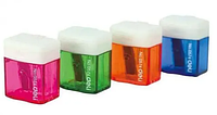 Точилка DELI пластмассовая, с прозрачным контейнером