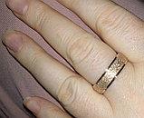 """Кольцо обручальное """"Алмазный песок 2"""" 2 мм, фото 7"""