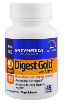 Enzymedica, Digest Gold с ATPro, 45 капсул