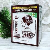 Хна Корона Corona с амлой и алоэ для окрашивания волос, цвет темно-каштановый, 12 шт