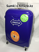 """Средний пластиковый дорожный чемодан на 4-х колесах""""Longstar"""" Высота 63 см, ширина 41 см, глубина 25 см., фото 1"""