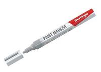 Маркер-краска BERLINGO 2-4 мм, серебряный