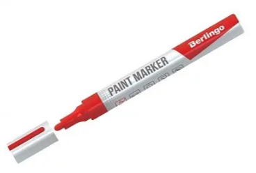 Маркер-краска BERLINGO 2-4 мм, красный