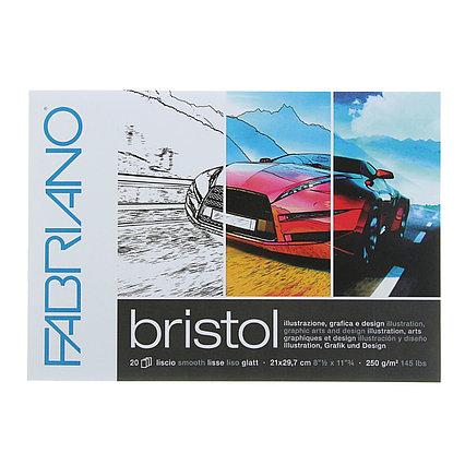 Альбом для черчения А4, 210 х 297 мм, 20 листов на склейке Fabriano, 250 г/м²