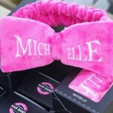 Розовый Бант-повязка для фиксации волос во время косметических процедур Michelle, фото 2