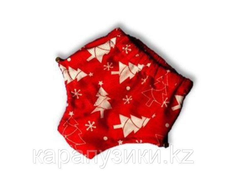 Подгузники для плавания елочка на красном