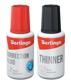 Корректирующая жидкость + разбавитель BERLINGO (набор), 2х20 мл