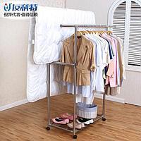 Вешалка для одежды напольная двойная, регулируемая длина 85,5-150x47x168 см, Youlite