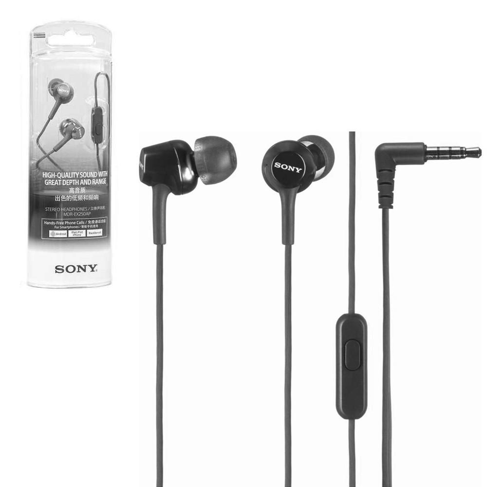 Гарнитура Sony MDR-EX250AP, Black