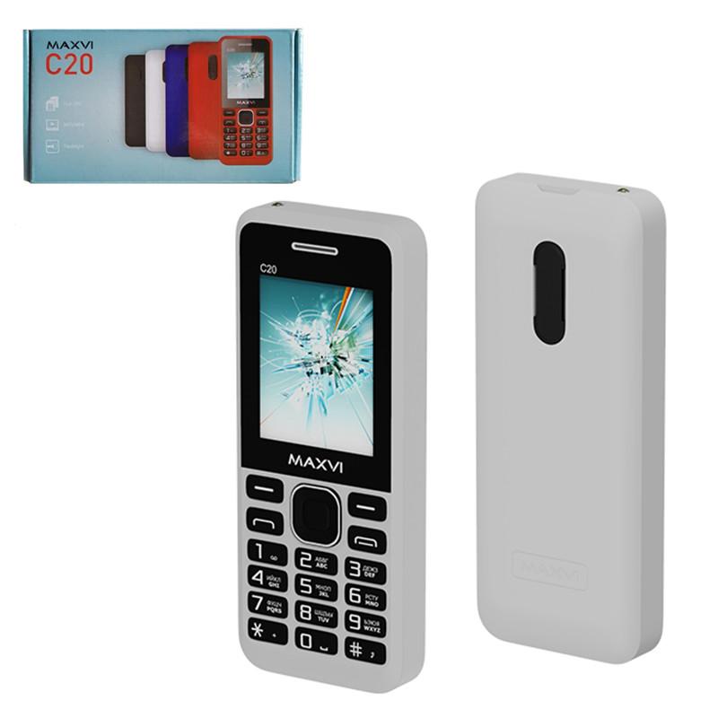 Мобильный телефон Maxvi C20, White