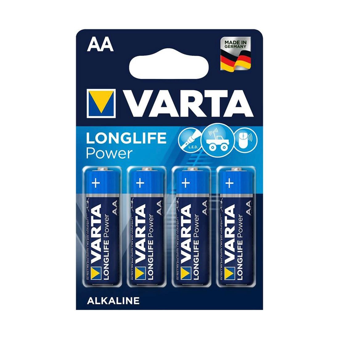 VARTA, Long Life Power Mignon 1.5V - LR6/ AA (4 шт) (4906)