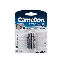 Camelion, Lithium P7 FR03-BP2, (2 шт), батарейка