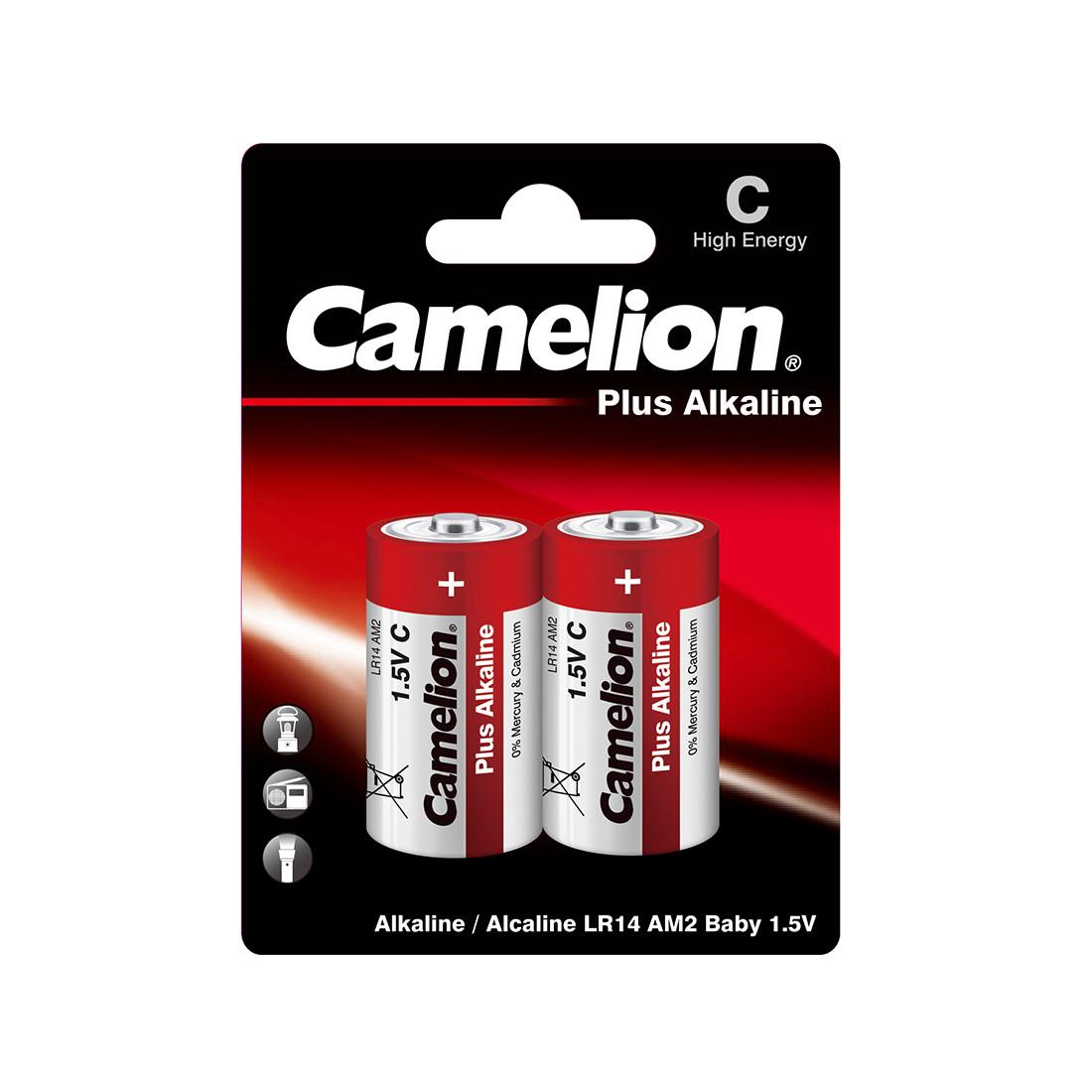 CAMELION, Plus Alkaline LR14-BP2, (2 шт), батарейка