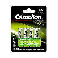 CAMELION, AlwaysReady Rechargeable, Ni-MH, NH-AA1000ARBP4, 1000мА/ч, (4 шт.), аккумулятор