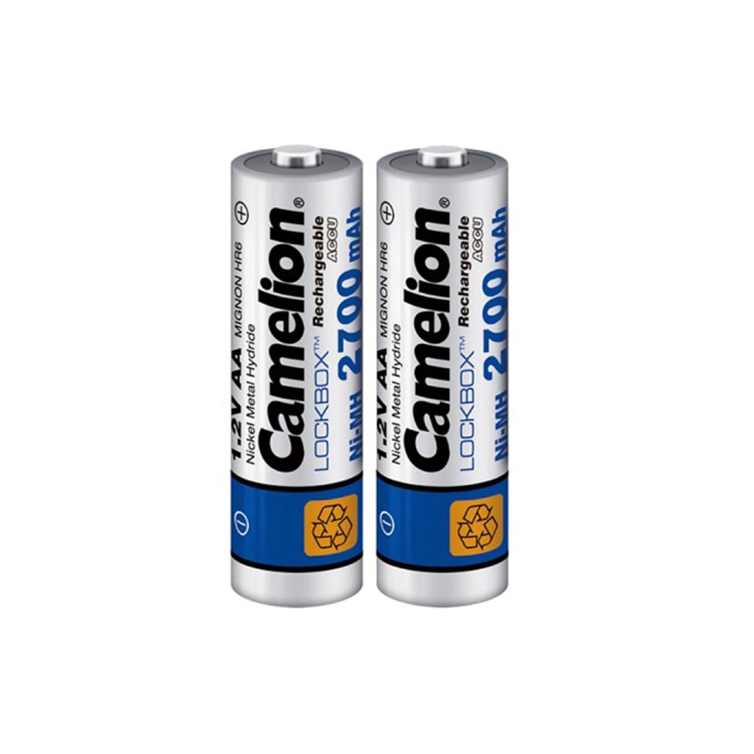 CAMELION, Lockbox Rechargeable, Ni-MH, NH-AA2700LBP2, 2700 мА/ч, (2 шт.), аккумулятор
