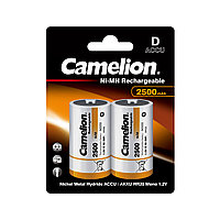 CAMELION, Rechargeable Ni-MH, NH-D2500BP2, 2500 мА/ч, (2 шт.), аккумулятор