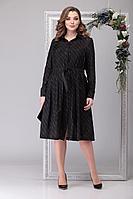 Женское осеннее черное нарядное большого размера платье Michel chic 2041 черный 50р.